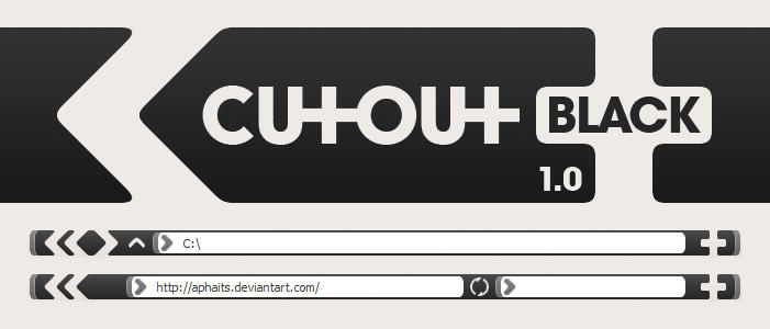 Cutout v1.0 Black by aphaits