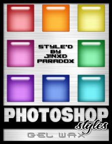 Photoshop Styles - Gel-Wax by JINXD-PARADOX