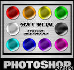 Photoshop Styles - Soft Metals