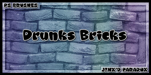 Drunk's Bricks -- PS Brushes by JINXD-PARADOX