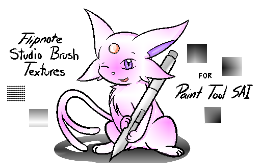 Flipnote Studio Textures for SAI by FreeSpirit59