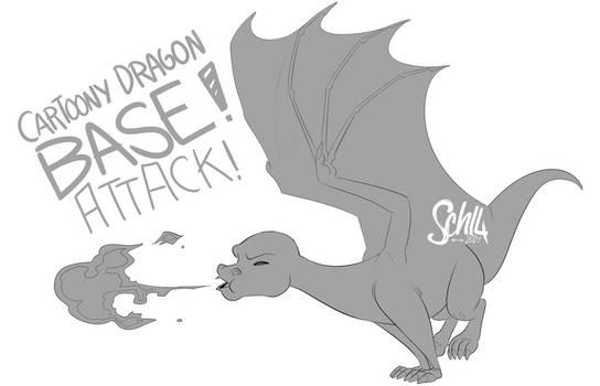 Base #2 - Cartoony Dragon Attack