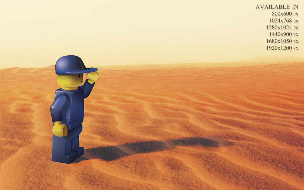 Lonely Lego Wallpaper by snipes2
