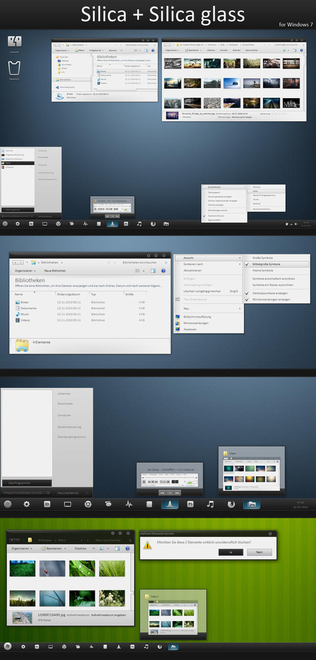 Silica Glass theme for Windows 7