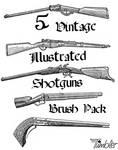 Vintage Shotguns Brushpack