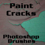 Cracked Paint Photoshop Brush by RapidYak