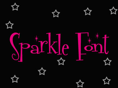 Sparkle Font by ray1089