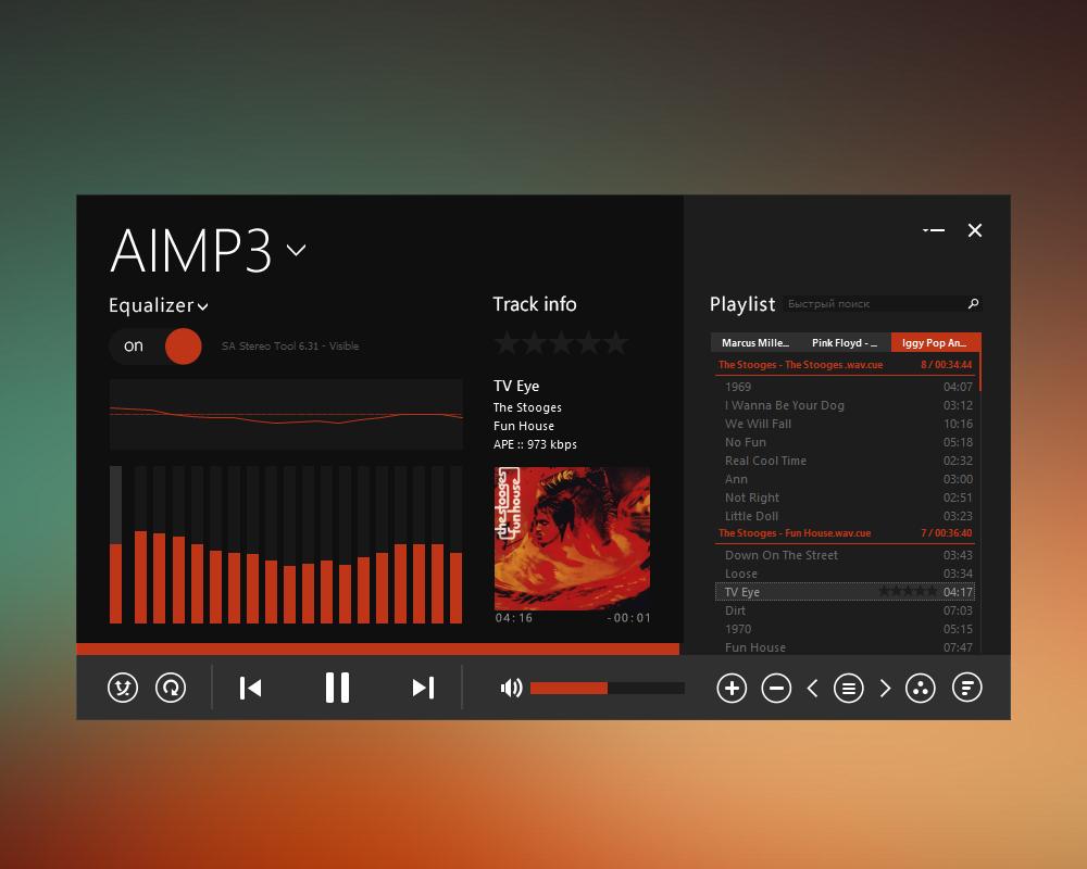 Metro Touch AIO AIMP3 skin by ikorolkov