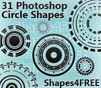 31 Photoshop Circle Shapes by Shapes4FREE