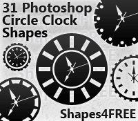 31 Photoshop Clock Shapes