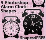 9 Photoshop Alarm Clock Shapes