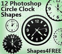 12 Photoshop Clock Shapes