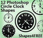 12 Photoshop Clock Shapes