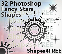 32 Custom Shapes - Stars by Shapes4FREE