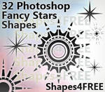 32 Custom Shapes - Stars