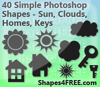 40 Misc Photoshop Shapes - CSH by Shapes4FREE