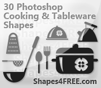 30-Cooking-PS-Vector-Shapes by Shapes4FREE