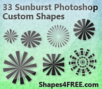 Sunbursts for Retro Designs by Shapes4FREE