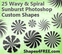Swirly Sunbursts by Shapes4FREE