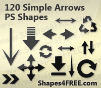 Arrows Photoshop Custom Shapes by Shapes4FREE