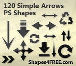 Arrows Photoshop Custom Shapes