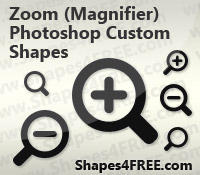 Magnifying Glass PS Shapes by Shapes4FREE