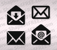 Email PS Custom Shapes by Shapes4FREE