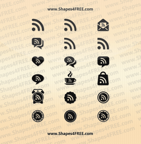 RSS Feed PS Custom Shapes