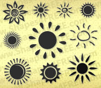 50 Sun PS Custom Shapes by Shapes4FREE