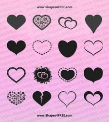 55 Hearts PS Custom Shapes