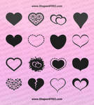 55 Hearts PS Custom Shapes