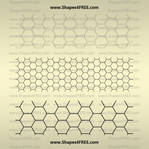 Transparent Hexagon Patterns