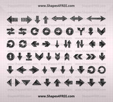70 Hand Drawn Arrows PS Shapes by Shapes4FREE