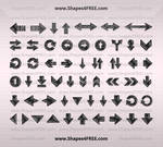 70 Hand Drawn Arrows PS Shapes