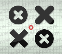 Cross Icons PS Custom Shapes by Shapes4FREE