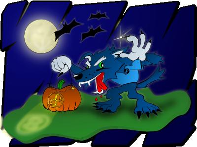 Halloween with Werewolves by nicubunu