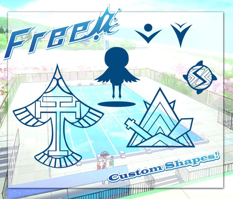 Free! Iwatobi Custom Shapes by KitsuneZorra