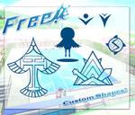 Free! Iwatobi Custom Shapes by MegumiBara