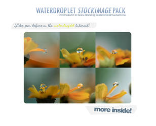 WaterDroplets Stock Pack by onixaStock