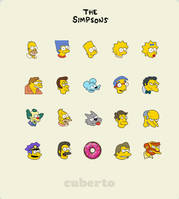 the Simpsons icons by Cuberto-ru