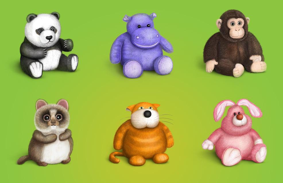 Plush Icons Set by Cuberto-ru