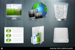 Radium For IconPackager by ipholio