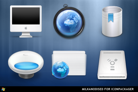 Milkanodised For IconPackager by ipholio