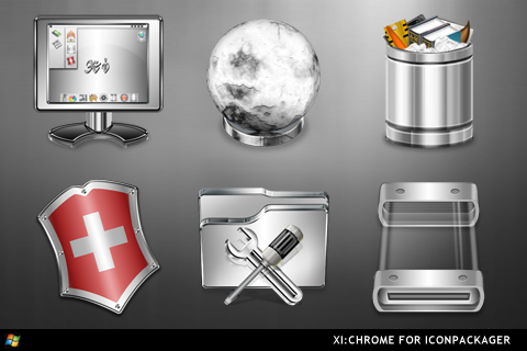 XI:Chrome For IconPackager by ipholio