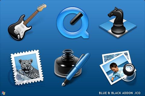 Blue Black Addon For Windows