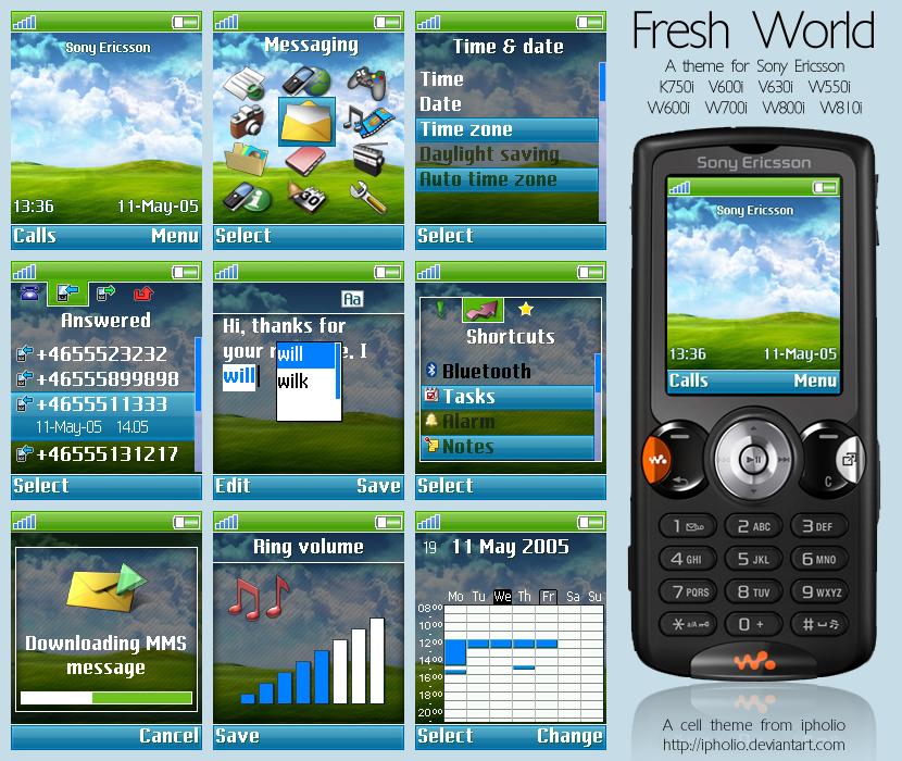 Подборка красивых анимированых тем для sony ericsson k790, k800, k810 и подобных телефонов