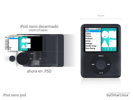 iPod nano 3 gen PSD