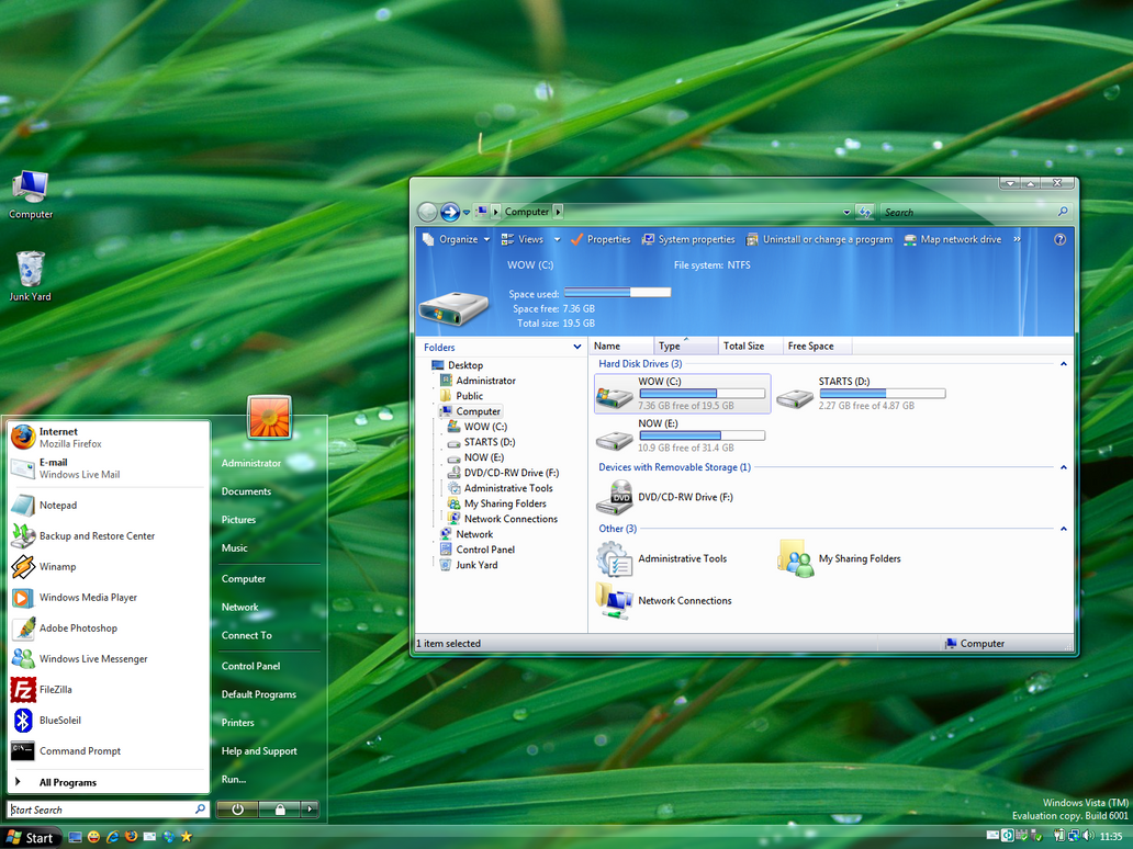 AeroVG Theme for Windows Vista by Vishal-Gupta