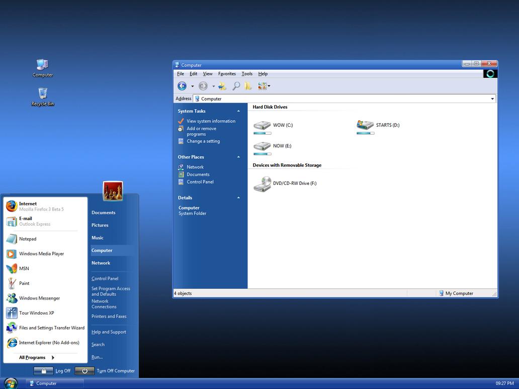 sevenvg refresh theme for windows xp