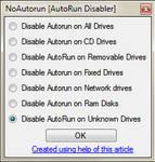 AutoRun Disabler